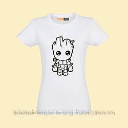 """Жіноча футболка з принтом """"Маленький Groot"""""""