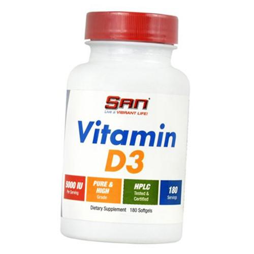 San Vitamin D3 5000 180 softgels