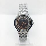 Часы женские наручные в стиле Mісhаеl Коrs (Майкл Корс), серебро с черным циферблатом ( код: IBW309SB ), фото 2