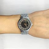 Часы женские наручные в стиле Mісhаеl Коrs (Майкл Корс), серебро с черным циферблатом ( код: IBW309SB ), фото 5