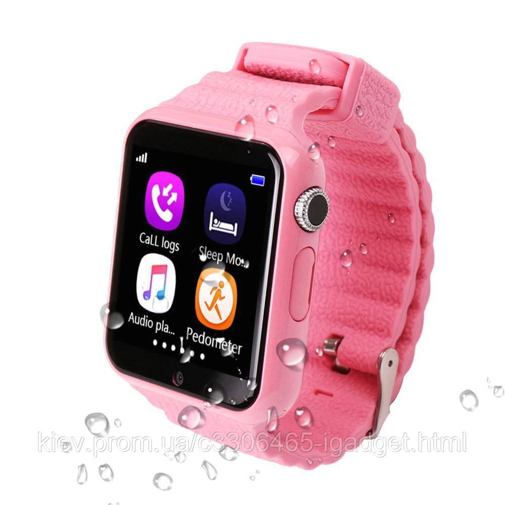 Детские Смарт Часы V7K оригинал ( Синие, Розовые)
