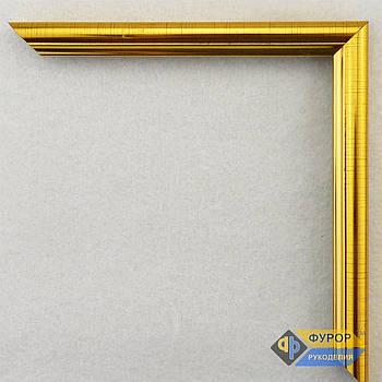 Рамка под заказ для картины, иконы, фото, вышивки, зеркала золотая (ФРЗ-1004)