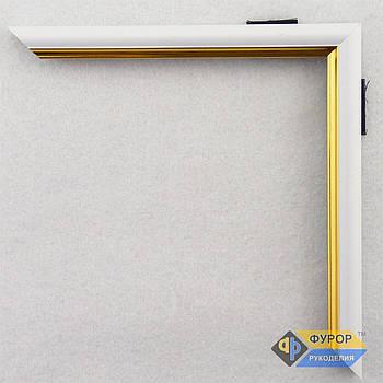 Рамка на заказ для картины, иконы, фото, вышивки, зеркала белая (ФРЗ-1005)