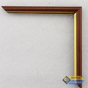 Рамка под заказ для картины, иконы, фото, вышивки, зеркала коричневая (ФРЗ-1007)