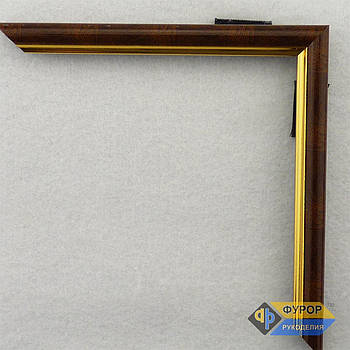 Рамка на замовлення для картини, ікони, фото, вишивки, дзеркала коричнева (ФРЗ-1011)
