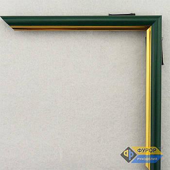 Рамка под заказ для картины, иконы, фото, вышивки, зеркала зеленая (ФРЗ-1012)