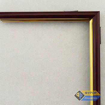 Рамка на заказ для картины, иконы, фото, вышивки, зеркала коричневая (ФРЗ-1013)