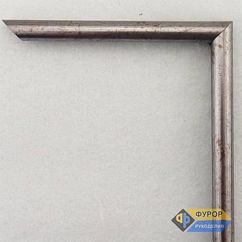 Рамка на замовлення для картини, ікони, фото, вишивки, дзеркала срібло (ФРЗ-1022)