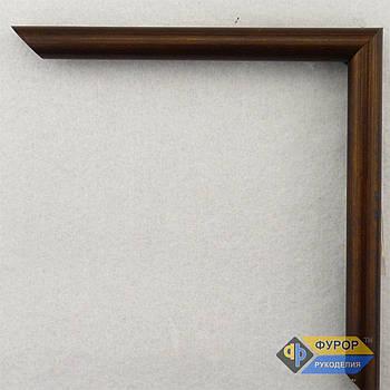 Рамка под заказ для картины, иконы, фото, вышивки, зеркала коричневая (ФРЗ-1025)
