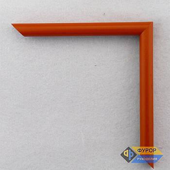 Рамка под заказ для картины, иконы, фото, вышивки, зеркала оранжевая (ФРЗ-1035)
