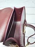 Сумка мини женская замшевая с кошельком 2 в 1, бордовый цвет ( код: IBG167KR1 ), фото 8
