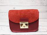 Сумка мини женская замшевая с кошельком 2 в 1, красный цвет ( код: IBG167R1 ), фото 5