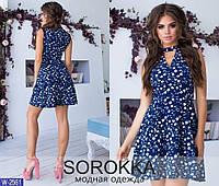 """Привлекательное женское платье с чокером ткань """"Софт"""" 42 размер"""