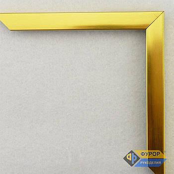 Рамка на заказ для картины, иконы, фото, вышивки, зеркала золотая (ФРЗ-1047)