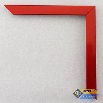 Рамка под заказ для картины, иконы, фото, вышивки, зеркала красная (ФРЗ-1048)