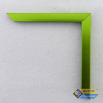 Рамка під замовлення для картини, ікони, фото, вишивки, дзеркала зелена (ФРЗ-1057)