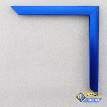 Рамка на заказ для картины, иконы, фото, вышивки, зеркала синяя (ФРЗ-1059)