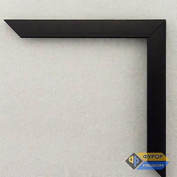 Рамка на замовлення для картини, ікони, фото, вишивки, дзеркала чорна (ФРЗ-1093)