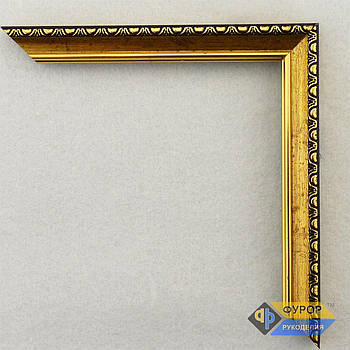 Рамка на заказ для картины, иконы, фото, вышивки, зеркала золотая (ФРЗ-1096)