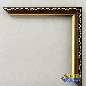 Рамка на заказ для картины, иконы, фото, вышивки, зеркала коричневая (ФРЗ-1098)