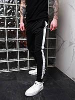 Мужские спортивные штаны с лампасами. Штаны чёрные трикотажные. Мужские спортивные брюки ТОП качества!!!, фото 1