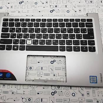 Уценка. Верхний корпус с клавиатурой Lenovo 710s-13 серебро Сервисный оригинал с разборки