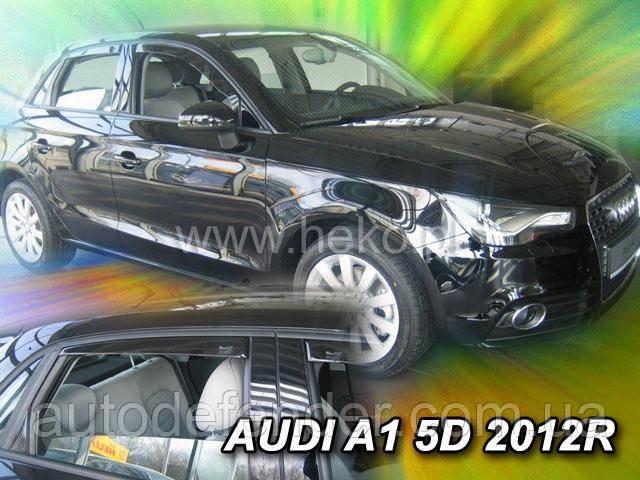 Дефлектори вікон (вставні!) вітровики Audi A1, 5D 2012 - 4шт., HEKO, 10239