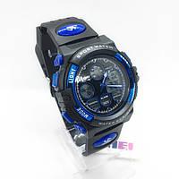 Часы мужские спортивные водостойкие SKMEI 1163 (Скмей), черно-синие ( код: IBW276Z )