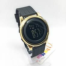 Часы мужские спортивные водостойкие SKMEI 1502 (Скмей) цвет черный с золотом ( код: IBW294BY )