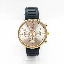 Часы мужские наручные Тоmmy Нilfigеr (Томми Хилфигер) на силиконовом ремешке, цвет золото ( код: IBW298Y )