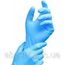 Перчатки голубые L Care 365 200 штук/уп., нитриловые смотровые нестерильные неопудреные