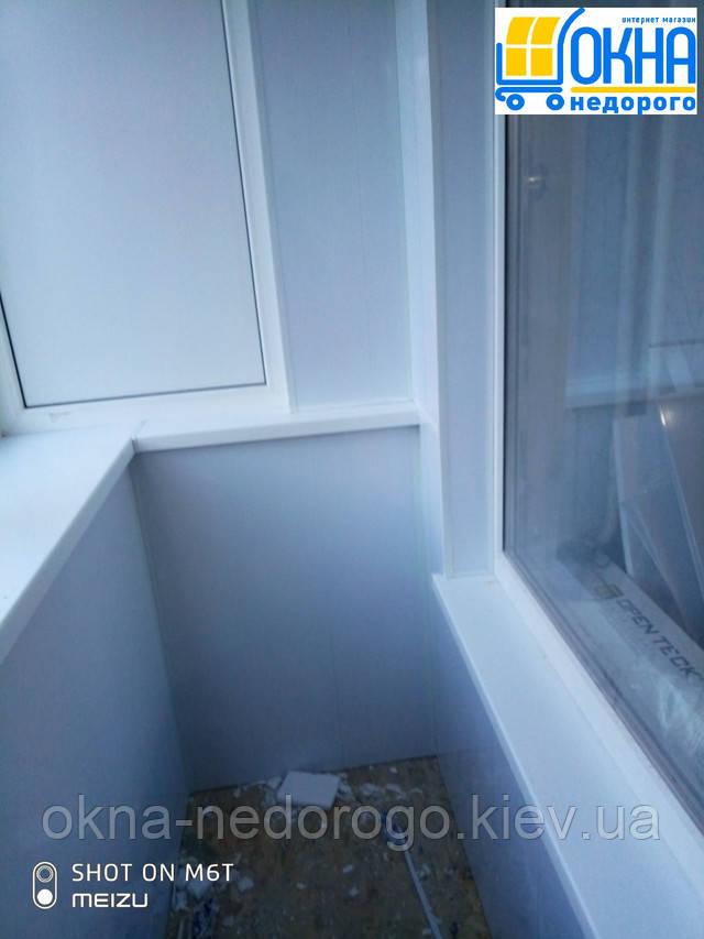 Балкон под ключ Вышгород - отделка балкона пластиком