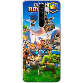 Чехол для Xiaomi Redmi Note 8 Pro с картинкой Игра Clash Royale Герои