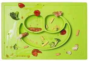 Тарілка-зелений килимок, фото 3