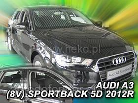 Дефлекторы окон (вставные!) ветровики Audi A3 2012- 5D Sportback 4шт., HEKO, 10247