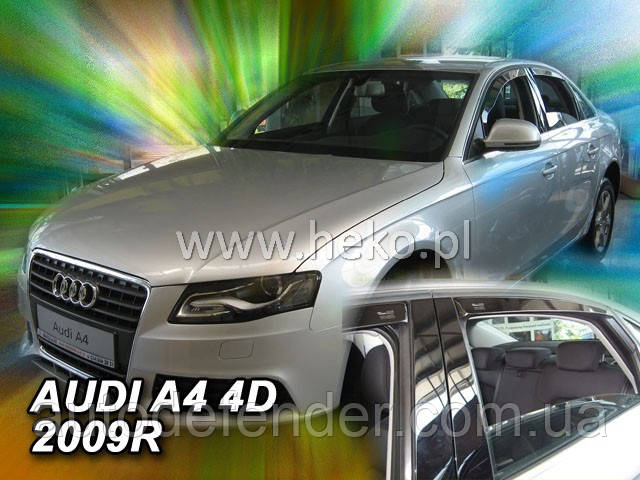 Дефлекторы окон (вставные!) ветровики Audi A4 (B8) 2008-2015 sedan 4шт. Sedan, HEKO, 10233
