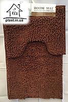 Набор ковриков для ванной комнаты Лапша 90*60 см (коричневый)