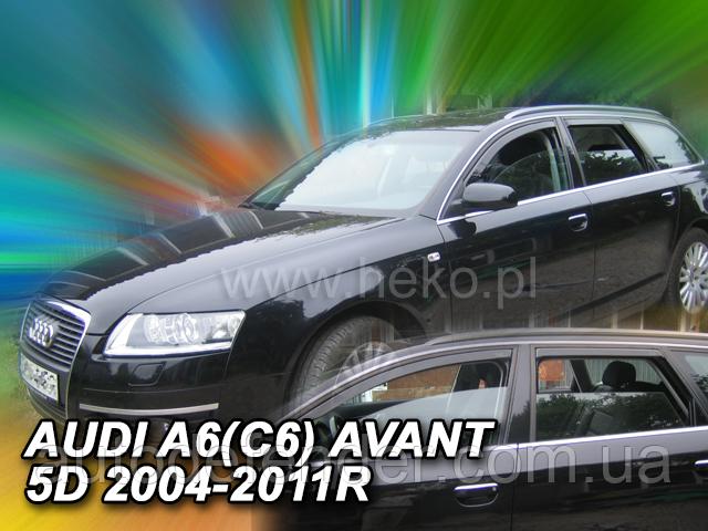 Дефлектори вікон (вставні!) вітровики Audi A6 5D 2004-2011 (C6) avant 4шт., HEKO, 10243