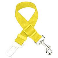 Автомобильный ремень безопасности для собаки GoodTrip 43-72 см Yellow HbP050620, КОД: 1358234