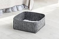 Домик для животных без подушки Digitalwool Корзина на кнопках 20 х 40 х 40 см Серый DW-92-14, КОД: 969534
