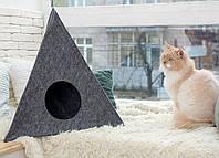 Домик для животных Digitalwool пирамида с подушкой Серый DW-92-07, КОД: 1103749