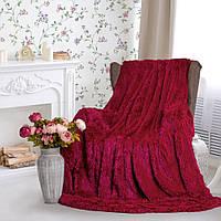 Плед покрывало на кровать меховое Травка Мишка Страус Пушистик размер (евро), в подарок