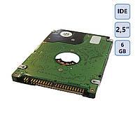 Жёсткий диск IDE 2,5 дюйма, 6 Gb (б.у.)