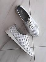 Женские кожаные мокасины белые MAX MAYAR 64 бел размер 40, фото 1