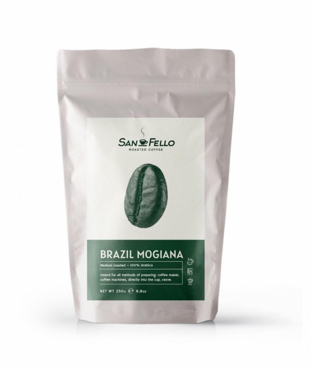 Арабика 100% Кофе в зернах свежая обжарка Brazil Mogiana 1 кг
