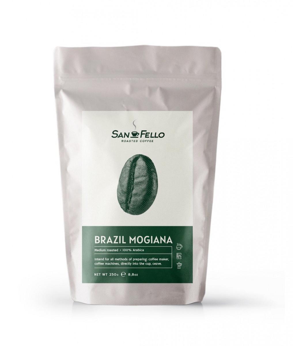 Арабика 100% Кофе в зернах свежая обжарка Brazil Mogiana 250 грамм