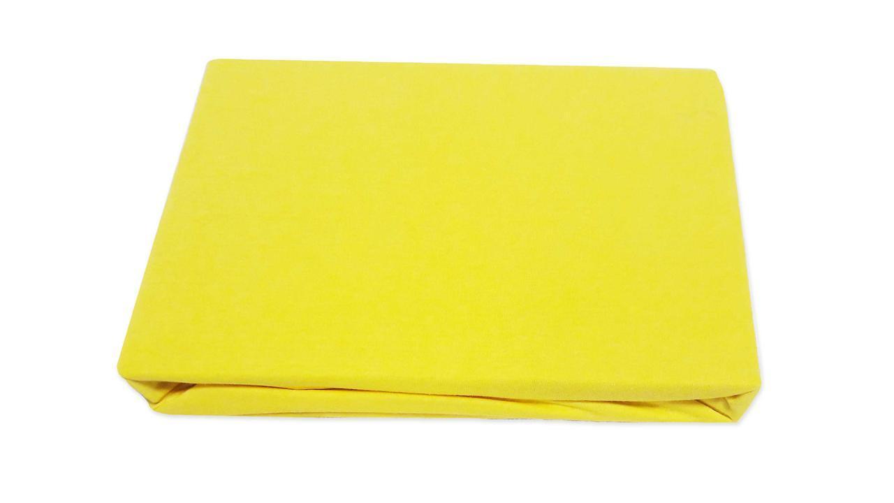 Простынь трикотажная на резинке 100х200см Zastelli Желтый