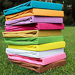 Простынь трикотажная на резинке 100х200см Zastelli Желтый, фото 3