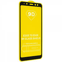 Защитное стекло Glass 9D Full Glue Triplex Samsung Galaxy A8 Черный 107102, КОД: 1597781