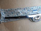 Молдинг хром решетки радиатора Hyundai Elantra JD I30 863522L000, фото 3